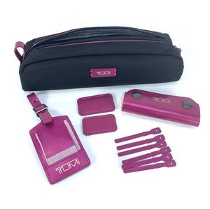 Tumi Metallic Pink Accent Kit Luggage Tag Monogram